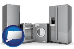 connecticut map icon and home appliances