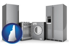 new-hampshire map icon and home appliances